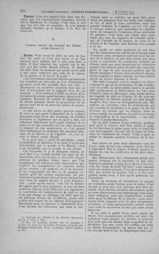 Tome 79 : Du 11 au 23 novembre 1793 - page 118
