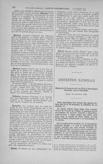 Tome 79 : Du 11 au 23 novembre 1793 - page 168