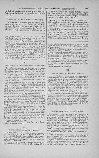 Tome 79 : Du 11 au 23 novembre 1793 - page 169