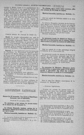 Tome 79 : Du 11 au 23 novembre 1793 - page 227