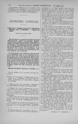 Tome 79 : Du 11 au 23 novembre 1793 - page 558