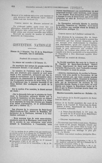 Tome 79 : Du 11 au 23 novembre 1793 - page 614