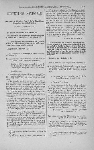 Tome 79 : Du 11 au 23 novembre 1793 - page 663