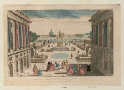 Vue perspective de la Place de Louis XV en entrant par la porte S. Honoré à Paris Vue de la Place de Louis XV a Paris : [estampe]