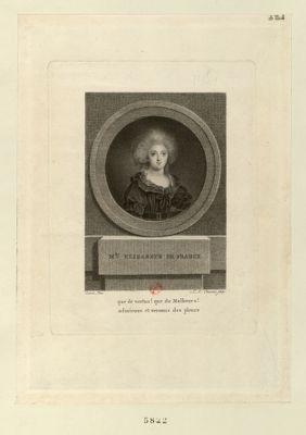 M.de Elizabeth de France que de vertus ! que de malheurs ! admirons et versons des pleurs : [estampe]