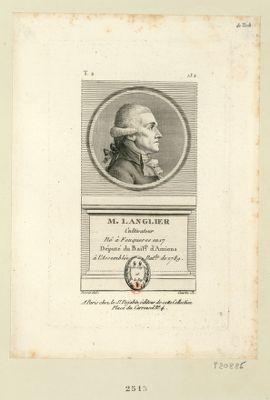 M. Langlier cultivateur né à Feuqueres en 17[..] député du bail.ge d'Amiens à l'Assemblée nat.le de 1789 : [estampe]