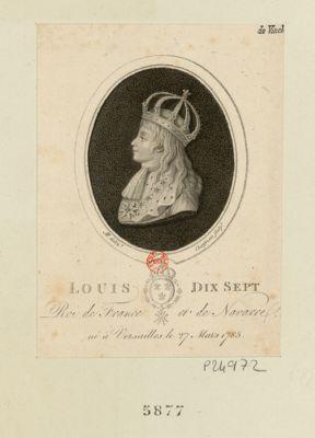 Louis dix sept Roi de France et de Navarre né à Versailles le 27 mars 1785 : [estampe]