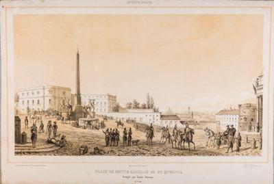 Piazza del Quirinale durante l'occupazione francese
