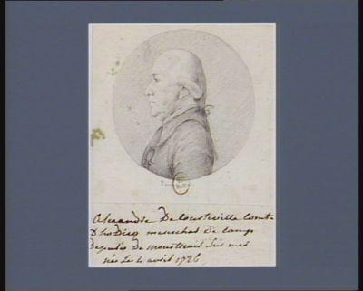 Alexandre de Courteville, comte d'Hodicq maréchal de camp député de Monstreuil-sur-Mer né le 4 avril 1726 : [dessin]