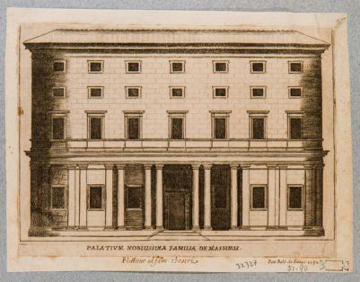 Palazzo Massimi, prospetto