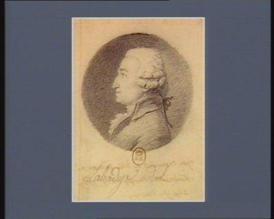 Jos. Bernard de Lilia de Crose né à Montréal en Bugey le 6 7.bre 1739 dép. du Bugey : [dessin]