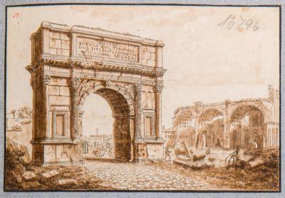 Arco di Tito, visto di scorcio dalla via Sacra