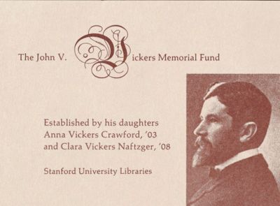 The John V. Vickers Memorial Book Fund