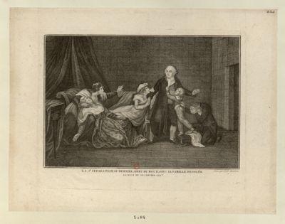 La 2 e separation, ou dernier adieu du roy d'avec sa famille desolée la nuit du 20 janvier 1793 : [estampe]