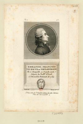 Emmanuel François vicomte de Toulongeon né à Champtille en Franche Comté député du bail.ge d'Aval à l'Assemblée nationale de 1789 : [estampe]