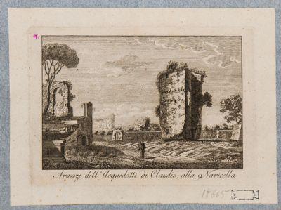 Acquedotto Claudio, resti presso la Navicella