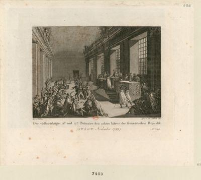 Der  Vielberüchtige 18te und 19te Brümaire des achten Iahres der französischen Republik [estampe]