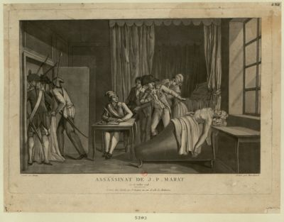 Assassinat de J.P. Marat le 13 juillet 1793 : [estampe]