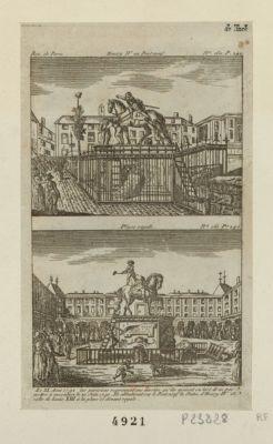 Henry IV au Pont Neuf, Place Royale [estampe]