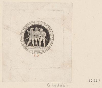 Stovfacher vo schwyts erni vo unrderwald-Wilhelm tell vonvre les 3 liberateurs de la Suisse dédiés aux citoyens français le 14 juillet 1789 : [estampe]
