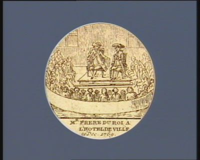 Mr frere du roi a l'hotel de ville 26 dec. <em>1789</em> : [estampe]