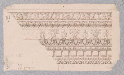 Palatino, particolare di cornice