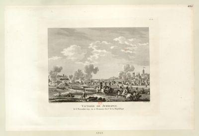 Victoire de Jemmapes le 6 novembre 1792, ou 15 brumaire an I.er de <em>la</em> République : [estampe]
