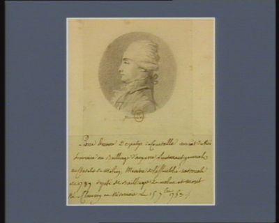 Pierre Etienne Despatys de Courteille avocat du Roi honoraire au bailliage d'Auxerre, lieutenant général au Chatelet de Melun, membre de l'Assemblée nationale de 1789 député des bailliages de Melun et Moret né à Clamecy en Nivernois le 15 9.bre 1753 : [dessin]