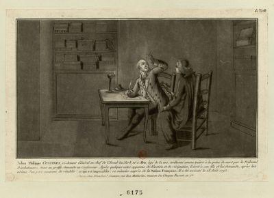Adam Philippe Custine, ci-devant général en chef de l'armée du Nord, né à Metz, âgé de 52 ans [estampe]