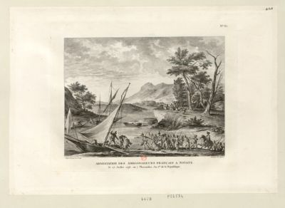 Arrestation des ambassadeurs français <em>à</em> Novate le 25 juillet 1793, ou 7 thermidor an I.er de la République : [estampe]