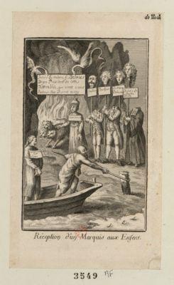 Réception d'un marquis aux Enfers [estampe]