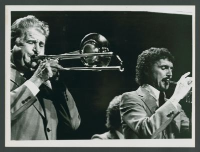 Turk Murphy, Bob Schulz on stage