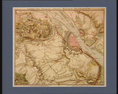 Lignes des Français devant Mayence en 1794 et 1795 [dessin]