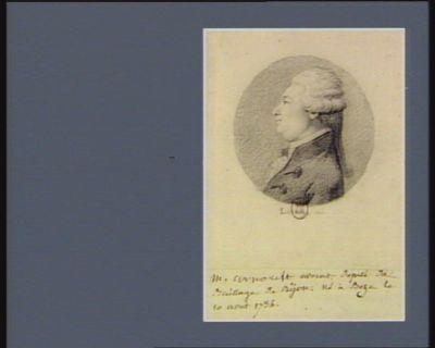 M. Arnoult avocat député du baillage de Dijon né à Beze le 10 aout 1734 : [dessin]