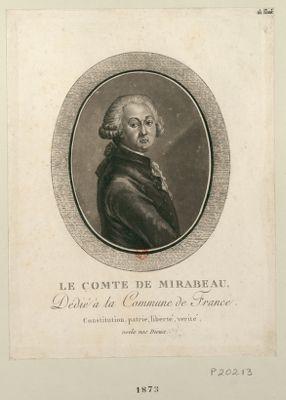 Le  Comte de Mirabeau dédié à la Commune de France... : [estampe]