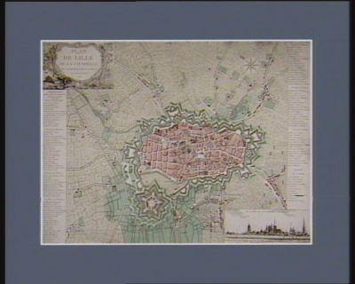 Plan de Lille de la citadelle et banlieue de la ville et de ses environs [estampe]