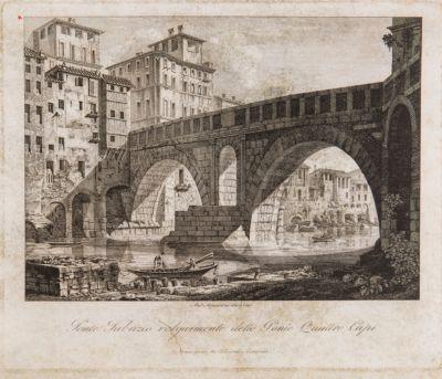 Ponte Fabrizio o Quattro Capi, veduta di scorcio