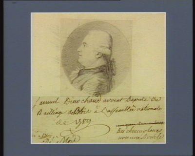 Samuel Dinochau avocat député du bailliage de Blois à l'Assemblée nationale de 1789 né à Blois : [dessin]