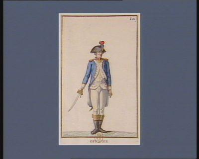 Officier de la Garde nationale parisienne instituée par l'Assemblée constituante, en juillet 1789 (v.s.) dessiné d'après nature sur les lieux : [estampe]