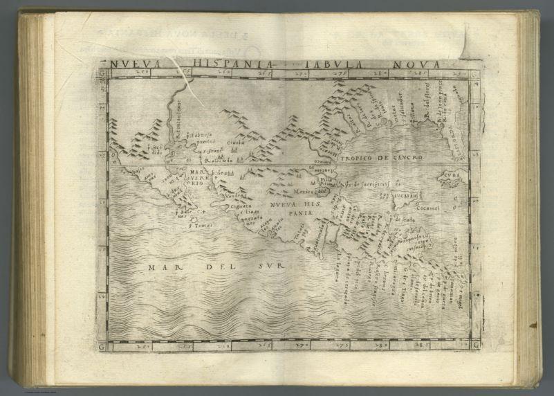 Nueva Hispania tabula nova. (to accompany) Ptolemeo. La geografia di Claudio Ptolemeo    alessandrino ... In Venetia, ... per Gioan. Baptista Pedrezano ... Anni x. M.D.XLVIII (1548)