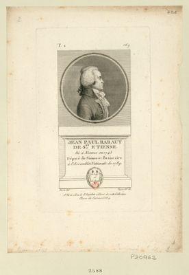 Jean Paul Rabaut de S.nt Etienne né à Nismes en 1743 député de Niimes [sic] et Beaucaire à l'Assemblée nationale de 1789 : [estampe]