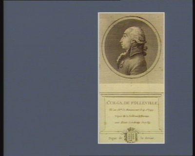 A.ne Ch. Ga. de Folleville né au ch.au de Manancourt le 14 j.et 1749 depute de la noblesse de Peronne aux Etats généraux de 1789. Digne de la devise : [estampe]