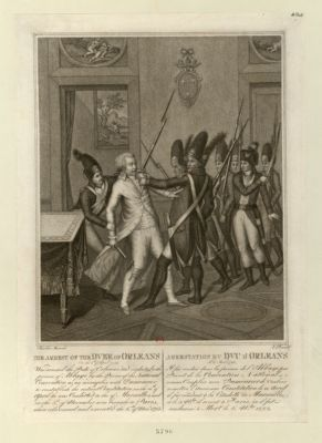 The  Arrest of the Duke of Orleans on the 6th of April 1793... : [estampe]