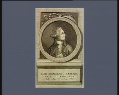 Luigi Stanislao Xaverio comte di Provenza nato a di 17 nove. 1755 : [estampe]