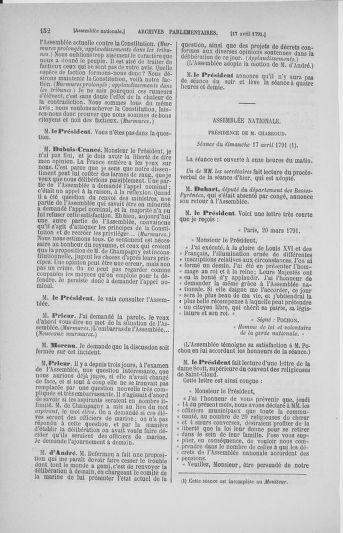 Tome 25 : Du 13 avril au 11 mai 1791 - page 152