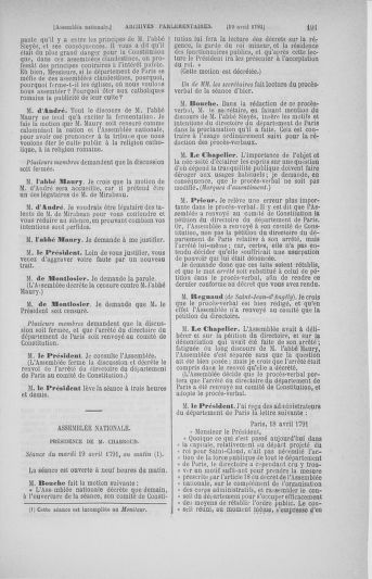 Tome 25 : Du 13 avril au 11 mai 1791 - page 191