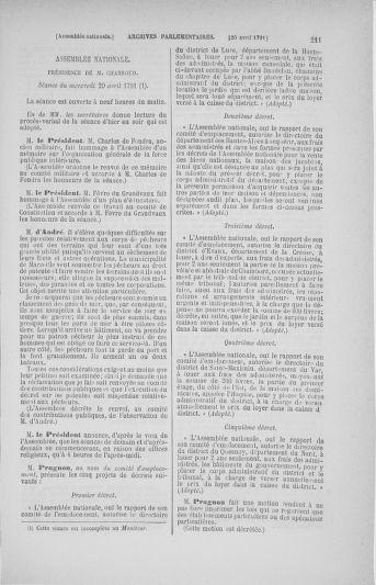 Tome 25 : Du 13 avril au 11 mai 1791 - page 211