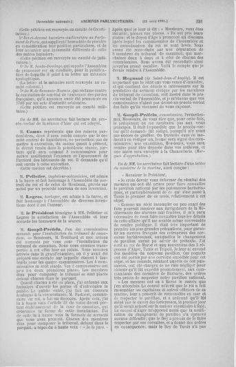 Tome 25 : Du 13 avril au 11 mai 1791 - page 231