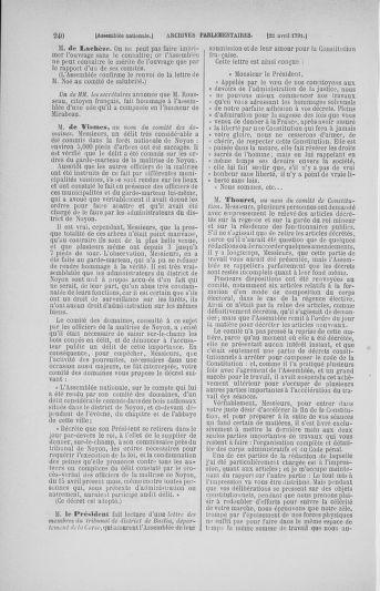 Tome 25 : Du 13 avril au 11 mai 1791 - page 240
