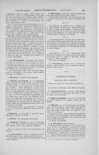Tome 25 : Du 13 avril au 11 mai 1791 - page 253